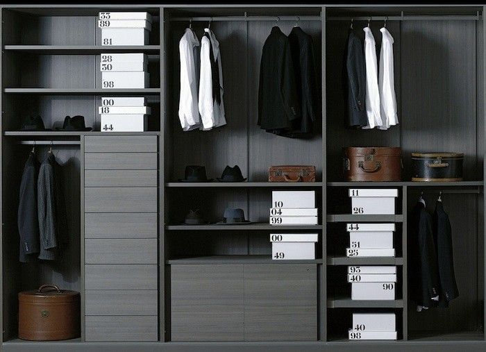 Great 10 Easy Pieces: Modular Closet Systems, High To Low Wooden Wardrobe Closet,  Ikea