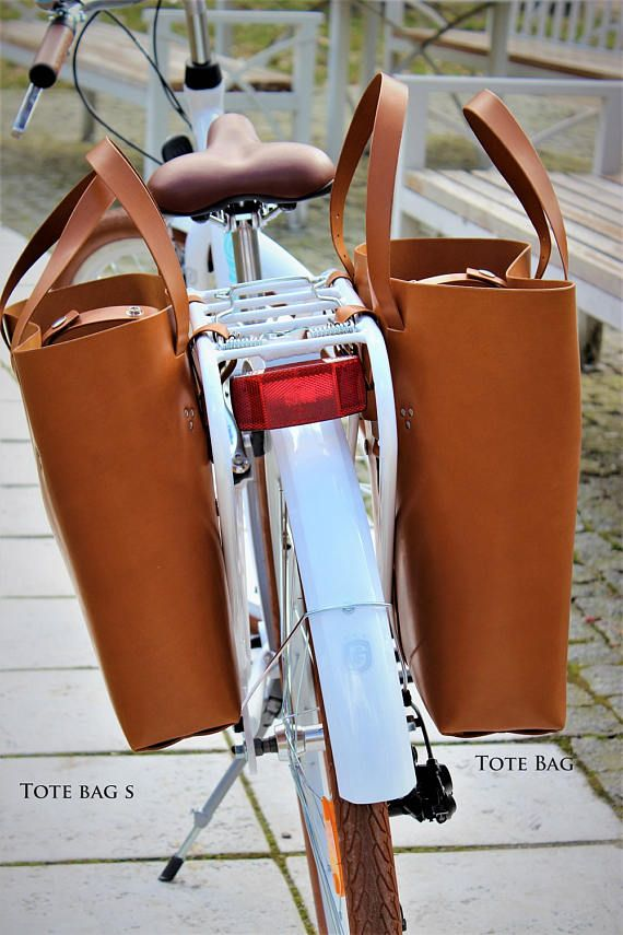 Small Bicycle Leather Tote Bag, Bicycle Leather Tote Bag, Bicycle ...