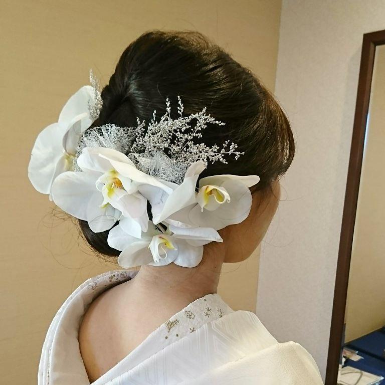 気品漂う*胡蝶蘭を使った和装におすすめのヘアアレンジ10選