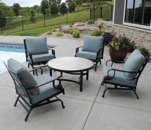 Backyard Creations Chalet Garden Collection 5 Piece Seating Patio Set In 2020 Patio Furniture Collection Backyard Creations Outdoor Furniture Sets