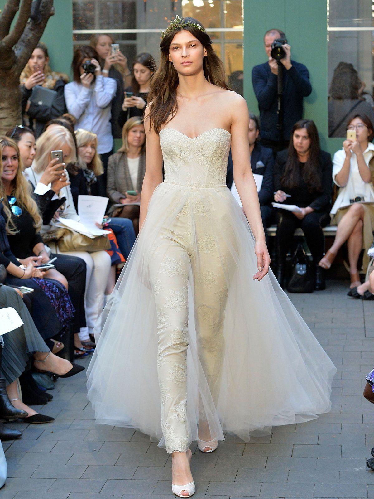 Unkonventionelle Brautkleider   Hosenanzug, einfaches Brautkleid und ...