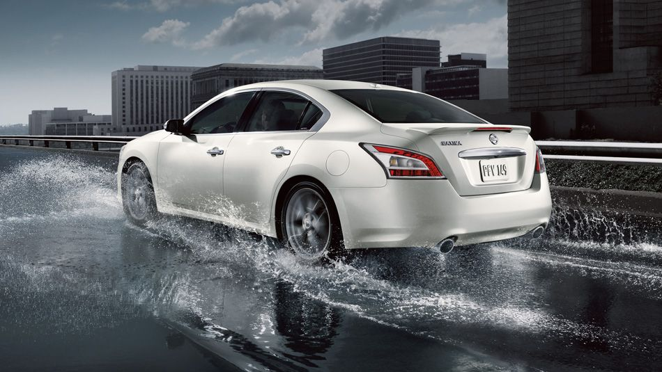 2014 Nissan Maxima Pearl White Cars Automobile Speed Sedan