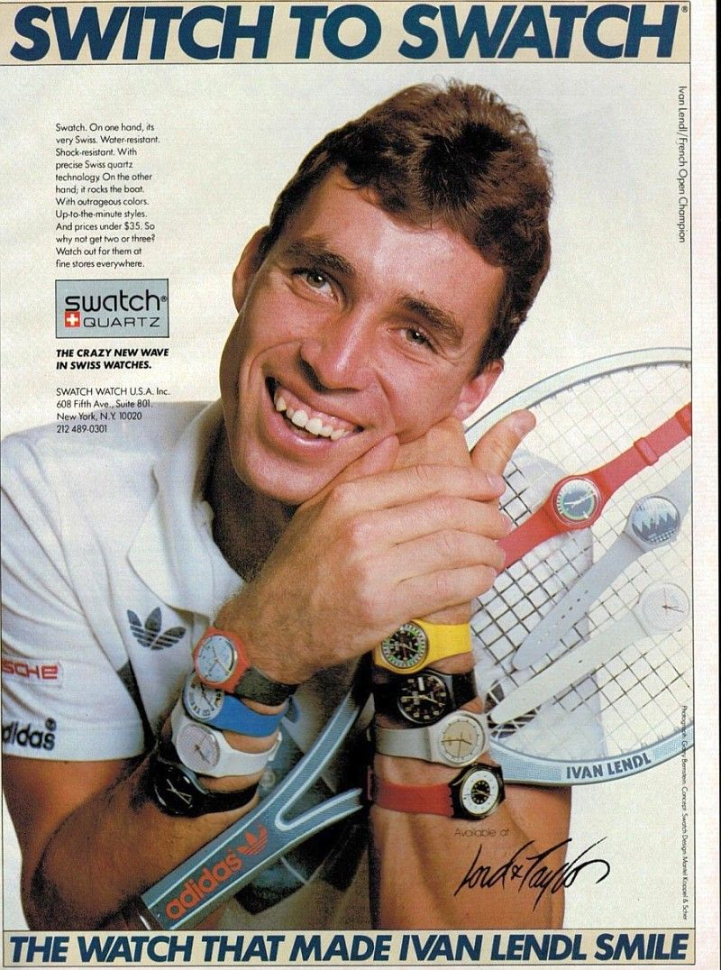 Switch to Swatch: 1984 ad with tennis legend Ivan Lendl