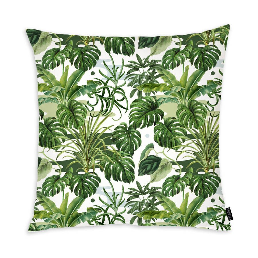 Leafy monstera cushion by kith u kin notonthehighstreet for
