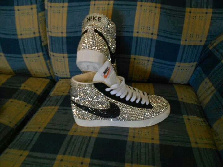 Bling High Top Nikes  5191bc312