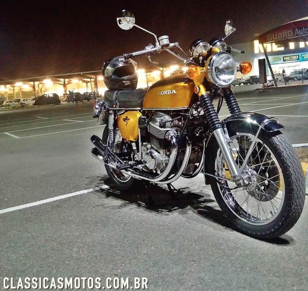 amazing gold honda cb 750 four classic motorcycles. Black Bedroom Furniture Sets. Home Design Ideas