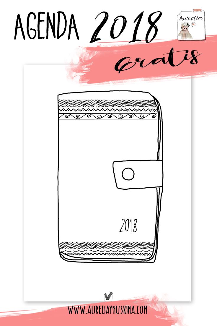 agenda 2018 pdf imprimible gratis | 2018 print | Pinterest | Bullet ...