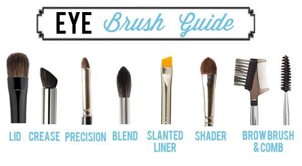 Eye brush guide. I think you can reduce your basic needs to: lid, blend, slanted liner, precision and comb for everyday use.