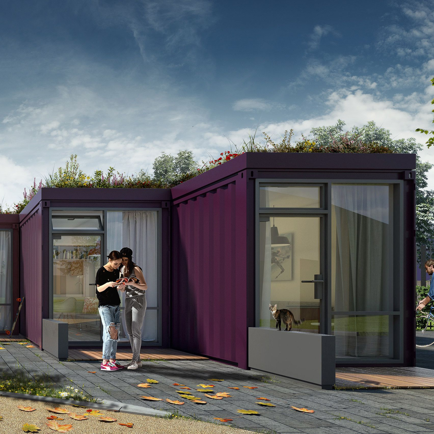Pin by David Raethorne on Container Home Green roof