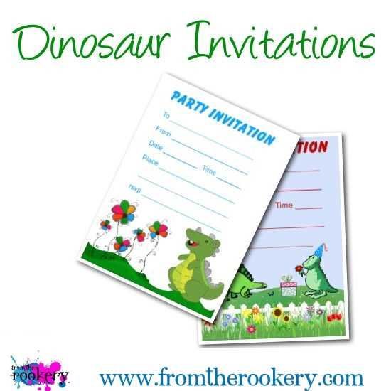 Dinosaur Birthday Invitations Free Printable Invites For Your Dino