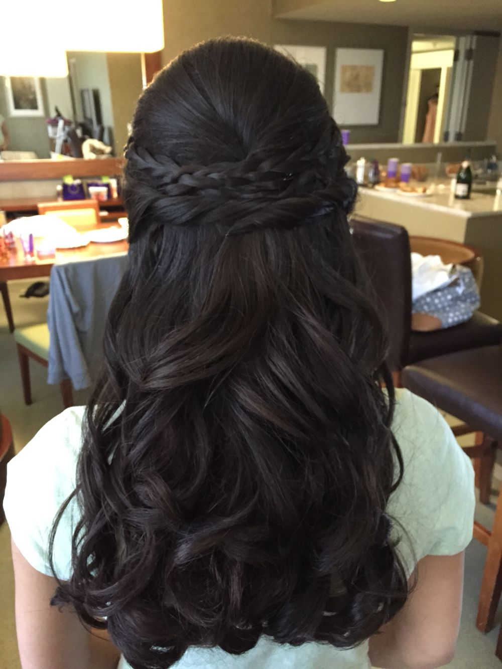 Bridalhair Bride Braid Hair Updo Wedding Wedding Hair Indianbride Bridesmaid Braid Black Bridesmaids Hairstyles Hair Styles Box Braids Hairstyles