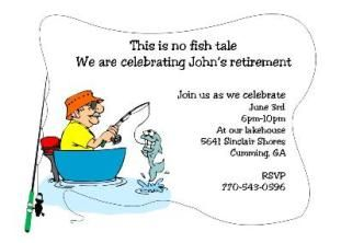 Fishing - Retirement Party Invitations | retirement invitations ...