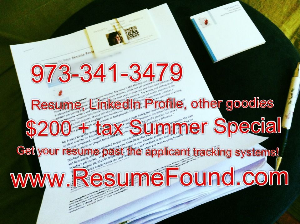 Another recent client package for $200 Summer special Guess what - rewrite my resume