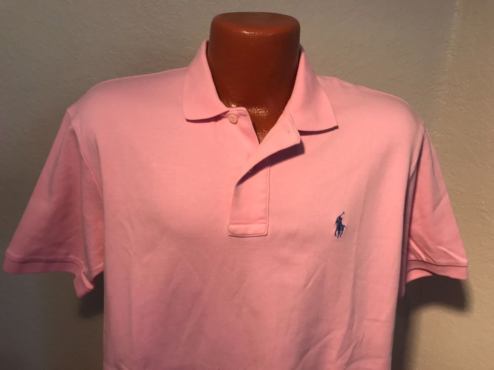 515a0b88 Mens Polo by Ralph Lauren S/S Polo/Golf Shirt Size Medium (M) Pink - Cotton  #fashion #clothing #shoes #accessories #mensclothing #shirts (ebay link)