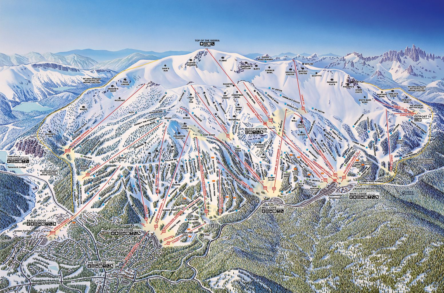 Mountain Information Has Moved Mammoth Lakes Mammoth Mountain Ski Trails