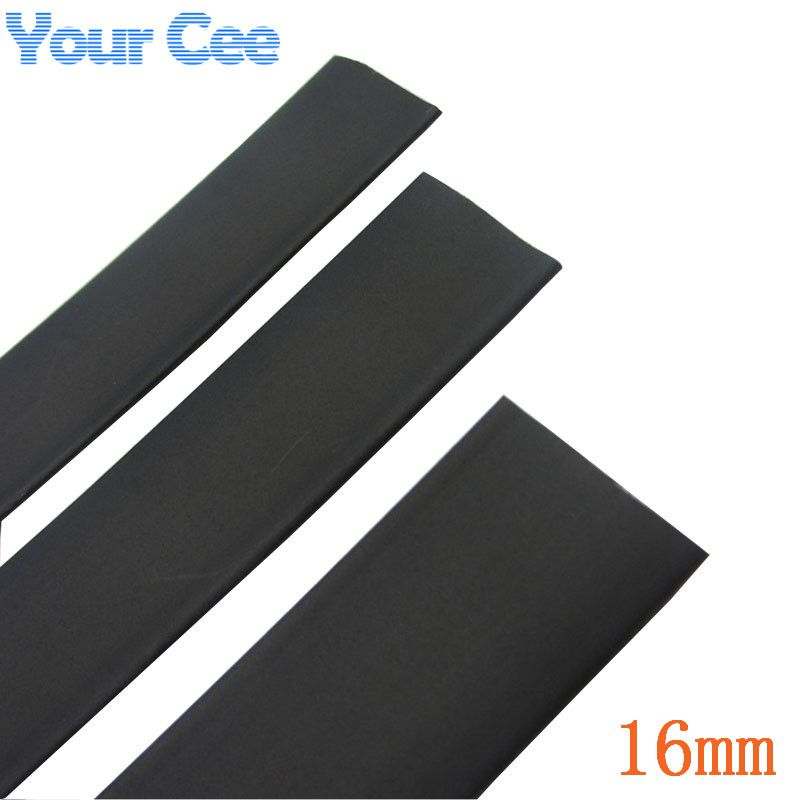 1m Heat Shrink Insulation Sleeving Heatshrink Tubing 600 Voltage 125 Celsius Black Tube Wire Wrap Cable K Heat Shrink Tubing Electronic Accessories Heat Shrink