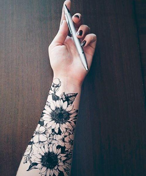 Photo of Cutest Sunflower Forearm Tattoo Design   Love Life Fun