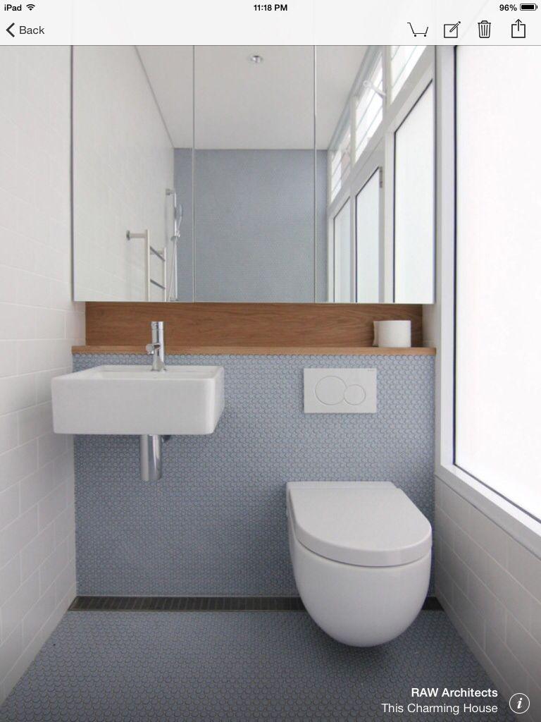 new bathroom images%0A This Charming House modernbathroom  wood niche shelf above sink  u     toilet