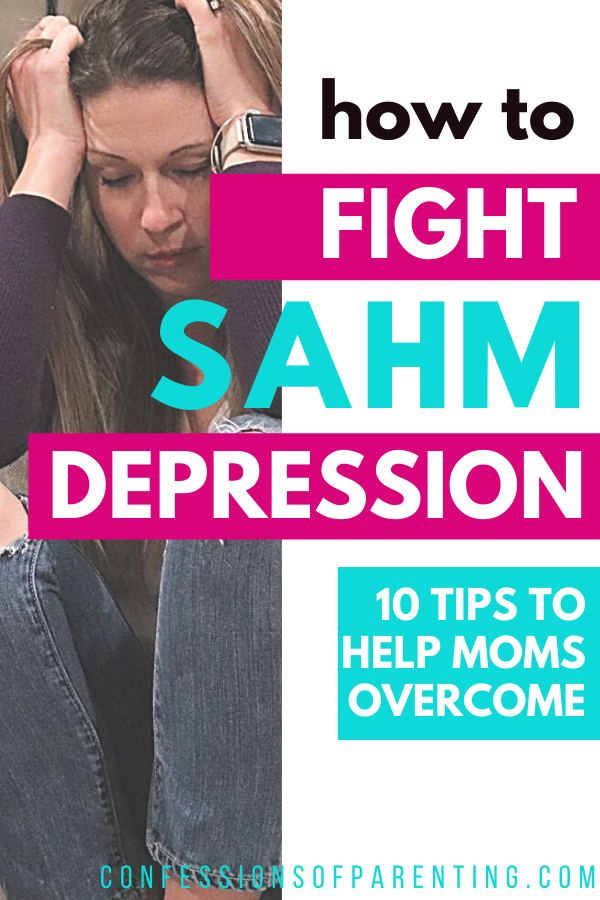 Are you a mother? Do you stay at home with your children? Depression in stay at home moms is something to talk about and take seriously. If you or someone you know is dealing with SAHM depression, check out this list of 10 ways to Overcome Stay at Home Mom Depression. #sahm #motherhood #depression #helps #momlife
