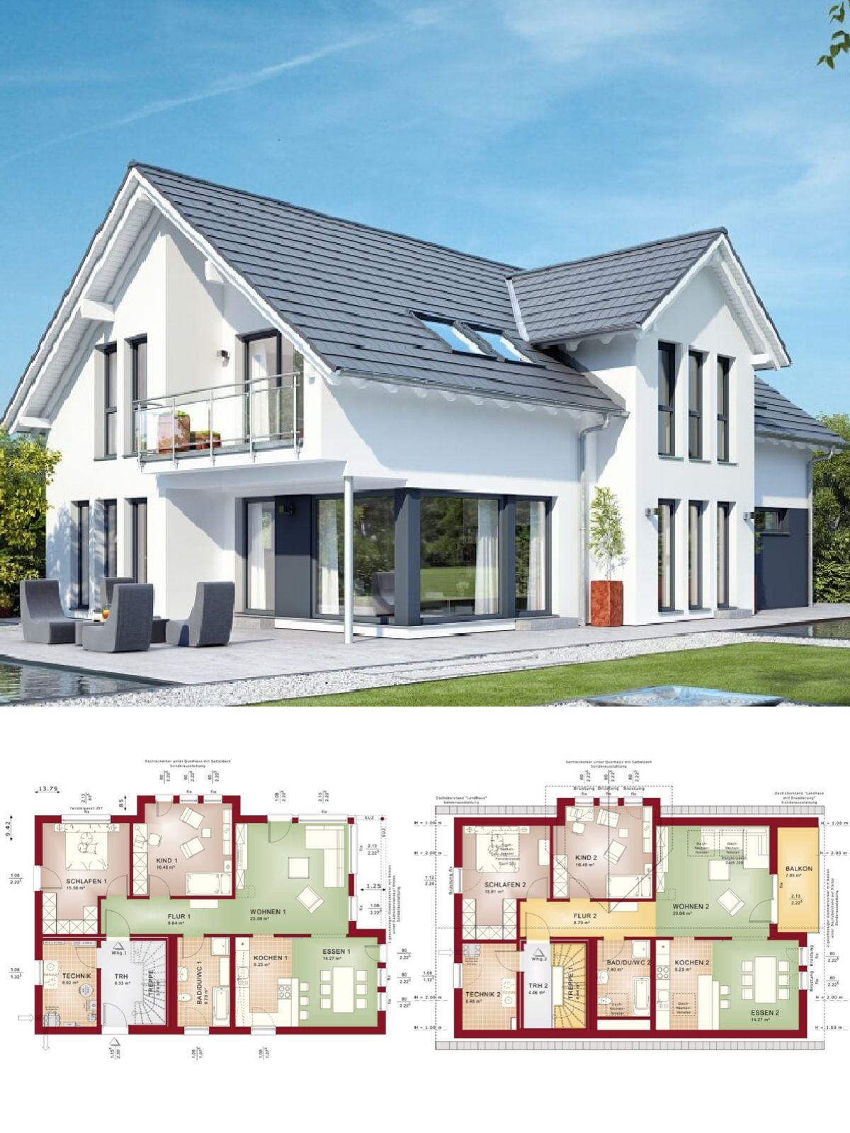Beeindruckend Einfamilienhaus Satteldach Referenz Von Modernes Mit Einliegerwohnung & Architektur - Grundriss