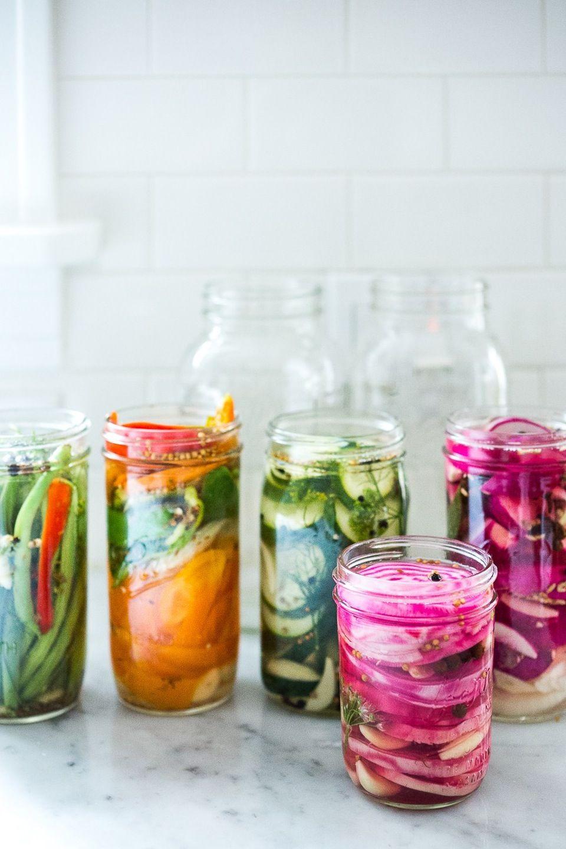 Lynsyltning af grøntsager i køleskabet   Food   Pinterest   Pickling ...