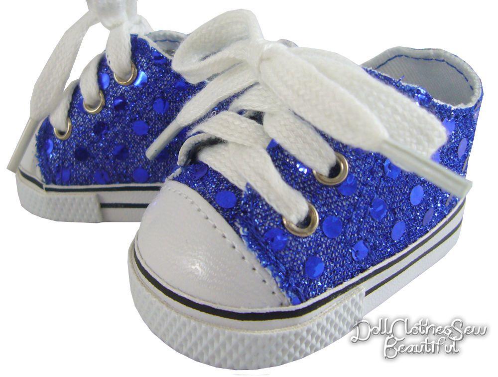 e16fff5cb2da20 Blue Sequin Sneakers Shoes for 18