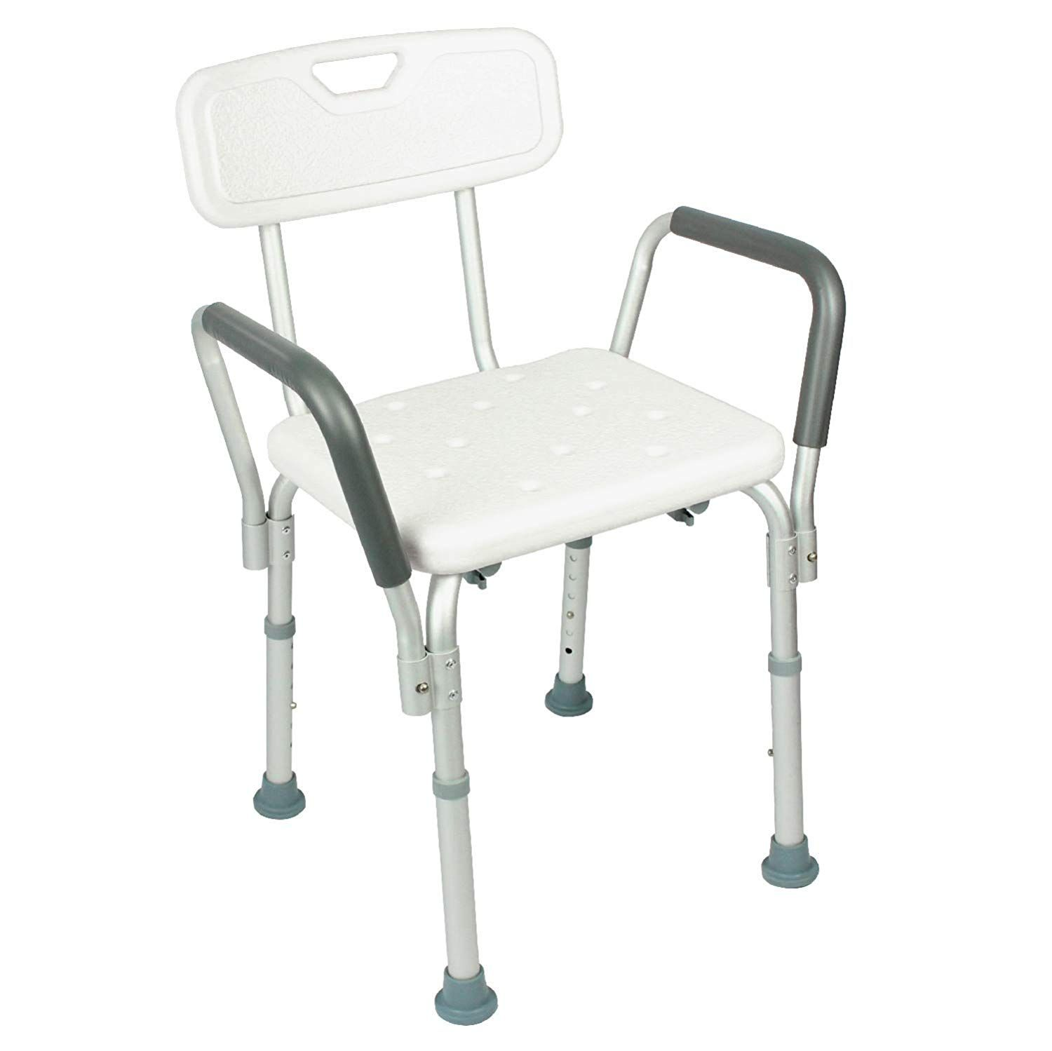 Vive Shower Chair With Back Handicap Bathtub Bench With Padded Armrest For Disabled Seniors And Elderly Adjustable Medical Ba Shower Chairs For Elderly Bath Chair For Elderly Shower Chair