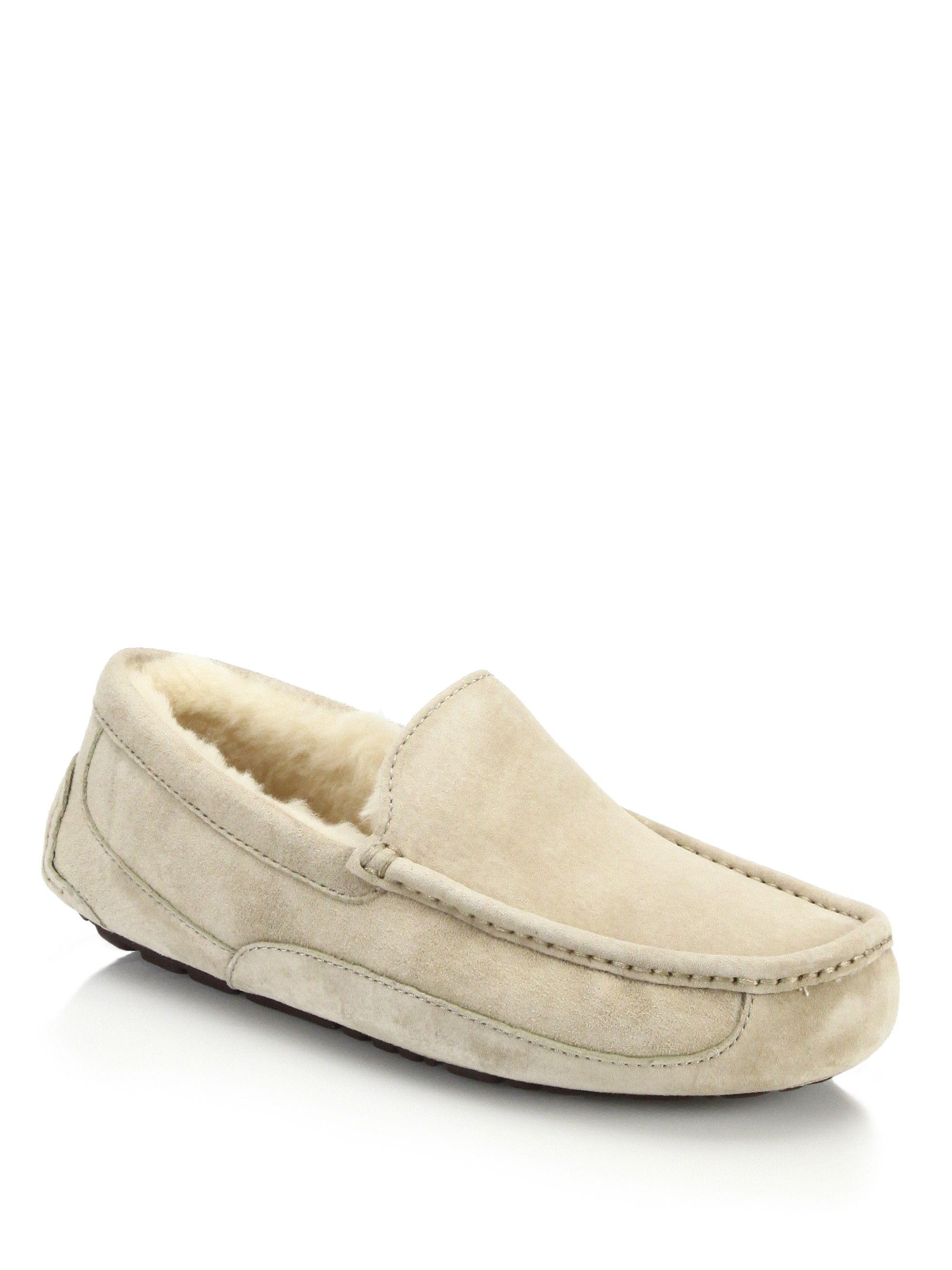 9f5ea01cebb UGG Ascot Suede and Shearling Slippers. #ugg #shoes # | Ugg Men ...