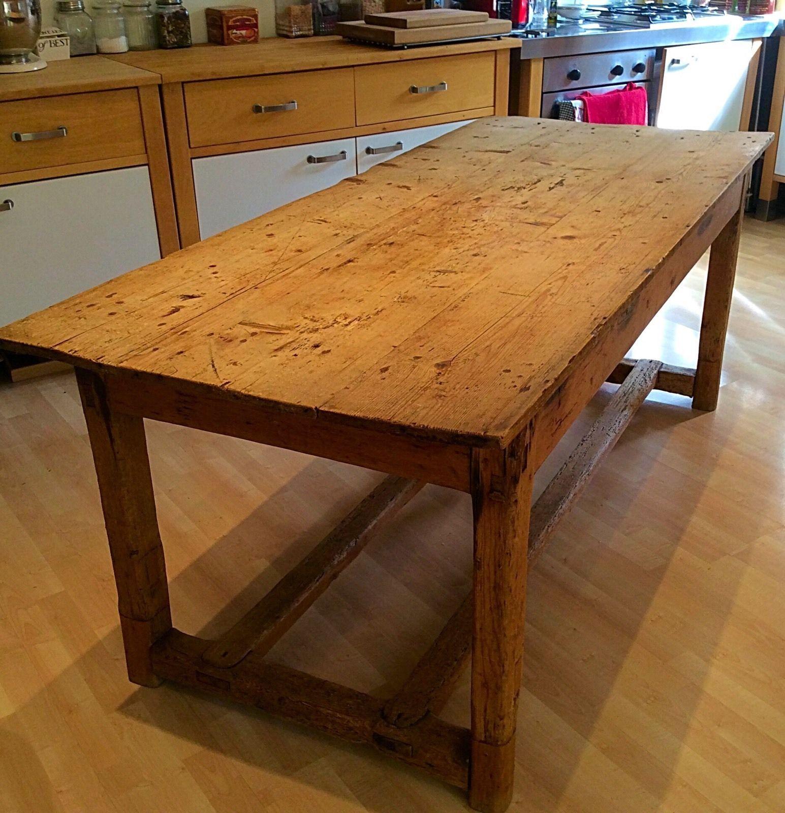 vintage pine kitchen table - Irish Farmers Table