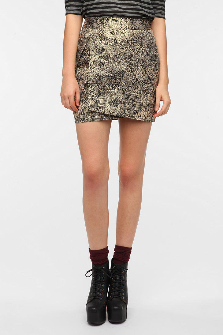 #Urban Outfitters         #Skirt                    #Sparkle #Fade #Gold #Jacquard #Tulip #Skirt        Sparkle & Fade Gold Jacquard Tulip Skirt                                      http://www.seapai.com/product.aspx?PID=38085