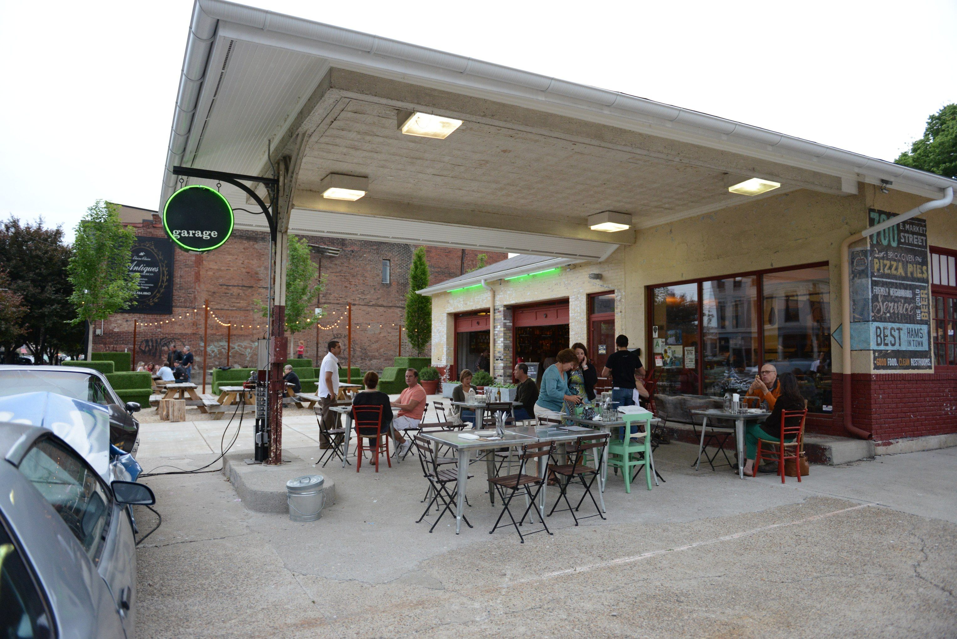 fill up at these converted gas station restaurants garage bar garage bar