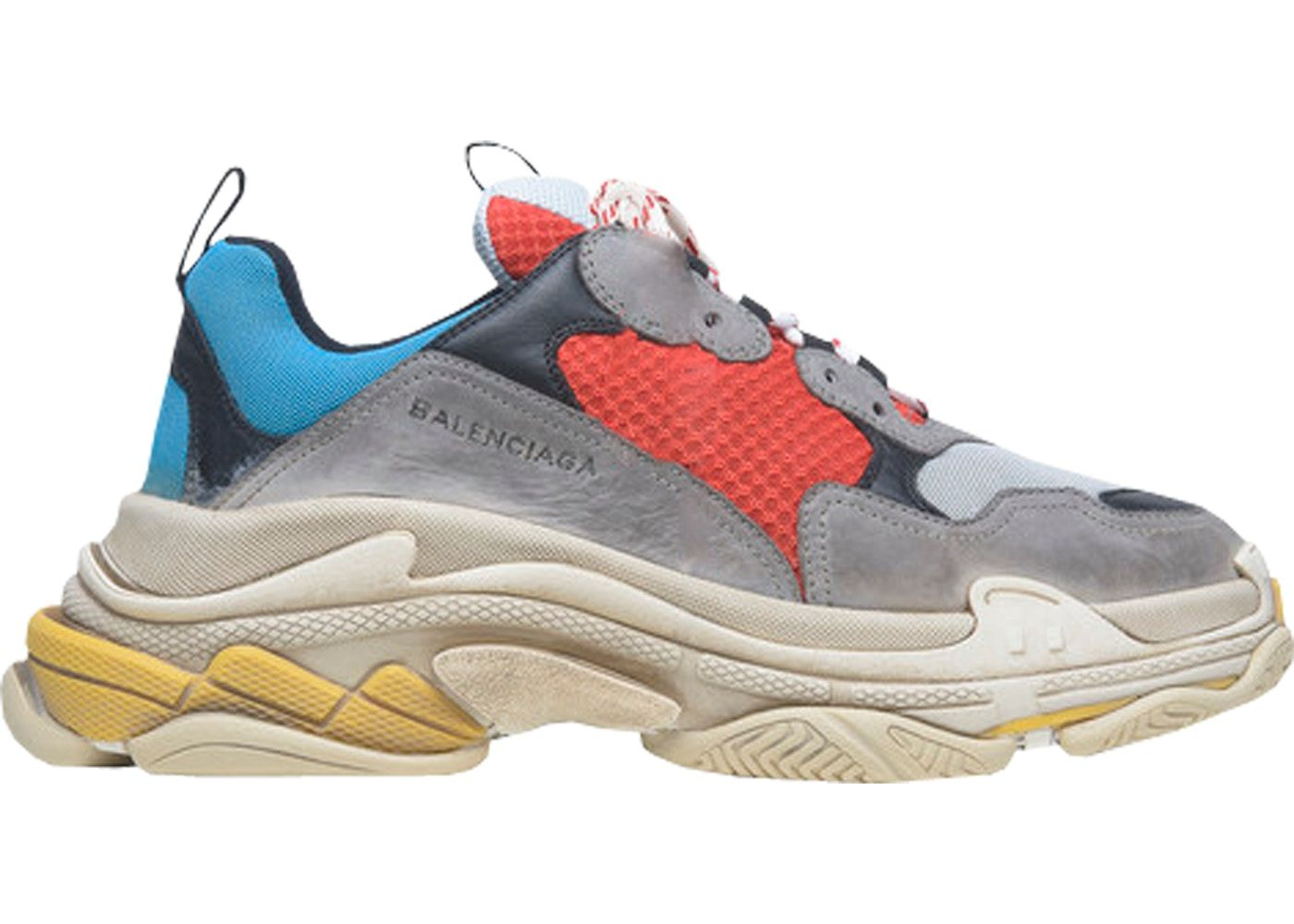 ba411cde641e Balenciaga Triple S Grey Red Blue (2018 Reissue)