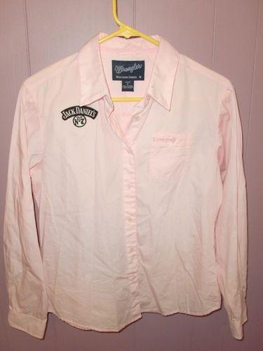 Wrangler Jack Daniel's Breast Cancer Western Cowgirl LS Women's Shirt Top Medium   eBay