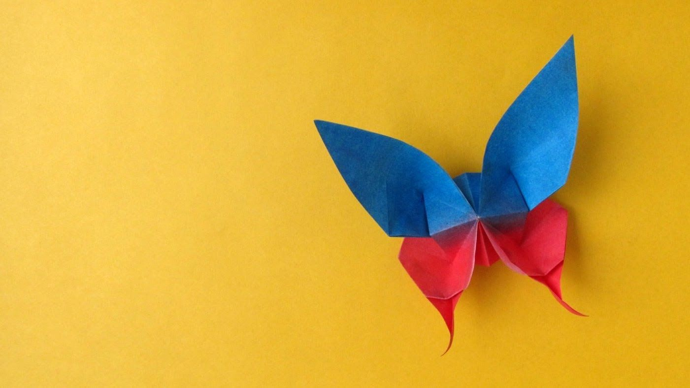 Origami Butterfly tutorial 003 // Origami Butterfly :: Mariposa ...