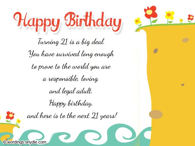 21st Birthday Wishes Messages and 21st Birthday Card Wordings – 21st Birthday Cards Messages