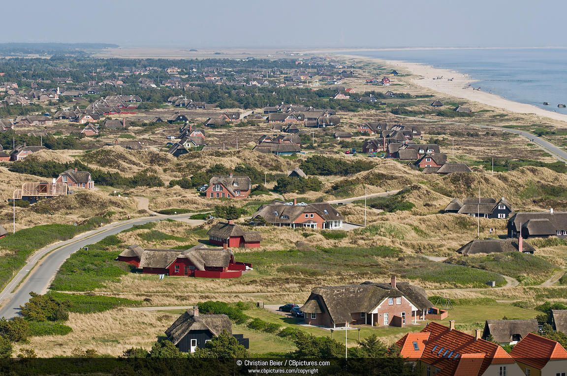 Blavand Jutland Denmark Aerial Photography Drone Holiday Resort Denmark Travel
