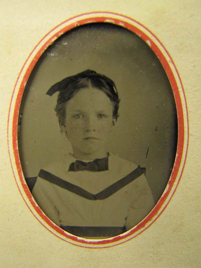 Antique Tintype Photograph Proper Young School Girl | eBay