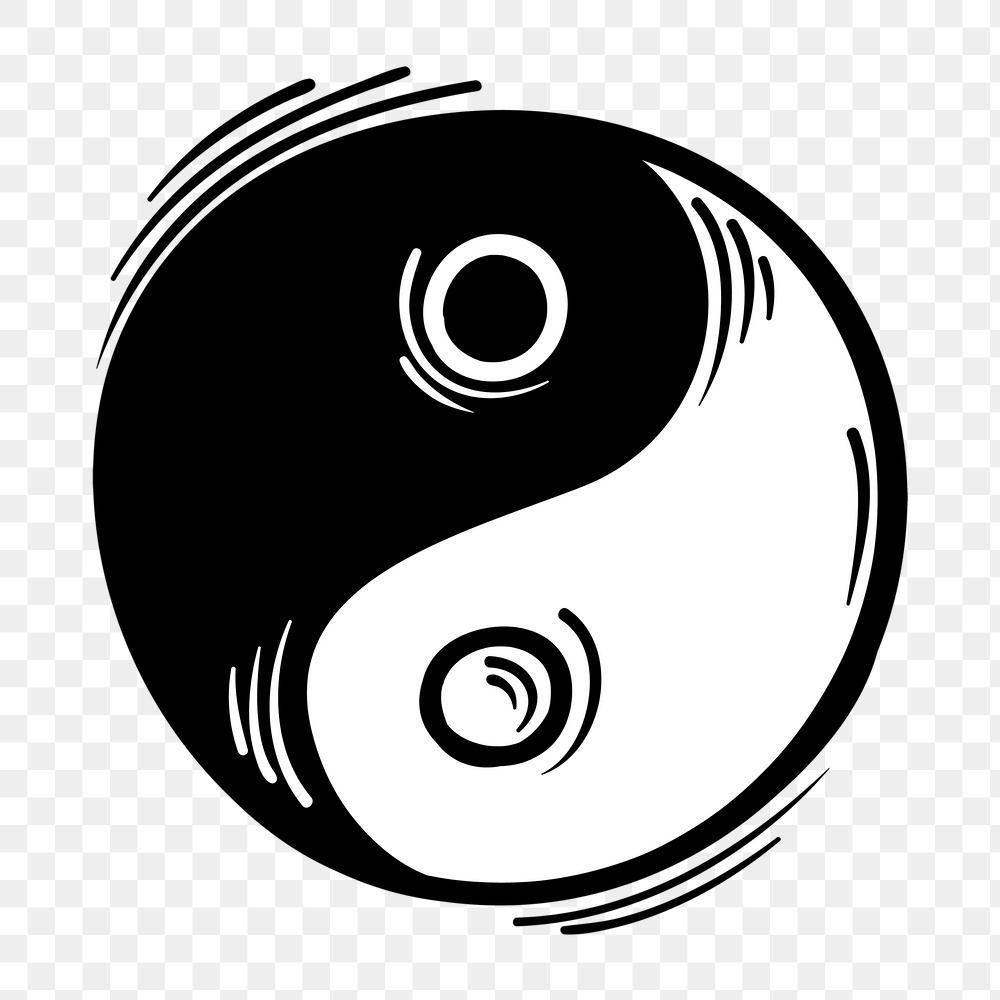 Png Yin Yang Symbol Funky Hand Drawn Doodle Cartoon Sticker Free Image By Rawpixel Com Neung Doodle Cartoon Yin Yang Yin Yang Icon