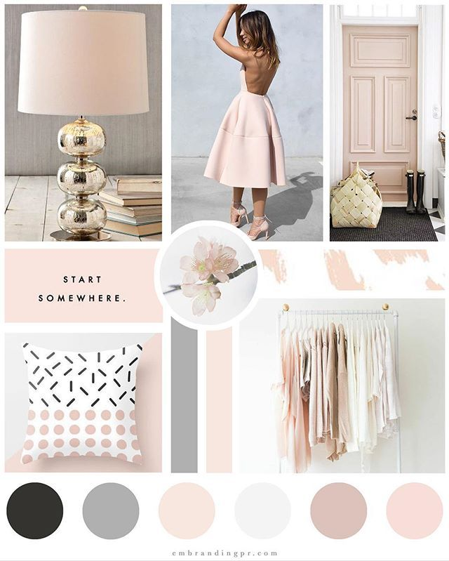 Swooning over this mood board we recently created for one of the sweetest bloggers! We are so excited to launch her blog and brand soon! #embrands