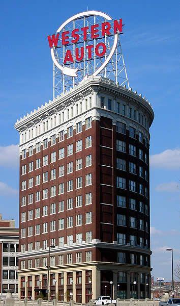 Western Auto Sign Downtown Kc Kansas City Skyline Kansas City