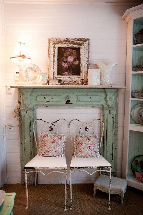 Love This Idea I D Like To Use An Old Mantel Frame Easy Chair