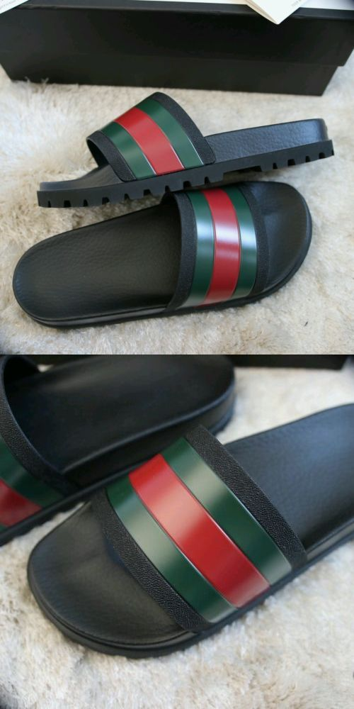 344696a47f3b Sandals and Flip Flops 11504  Ntw Hot - Gucci Men S Sandal Slides Us Size  11   -  BUY IT NOW ONLY   155.02 on eBay!
