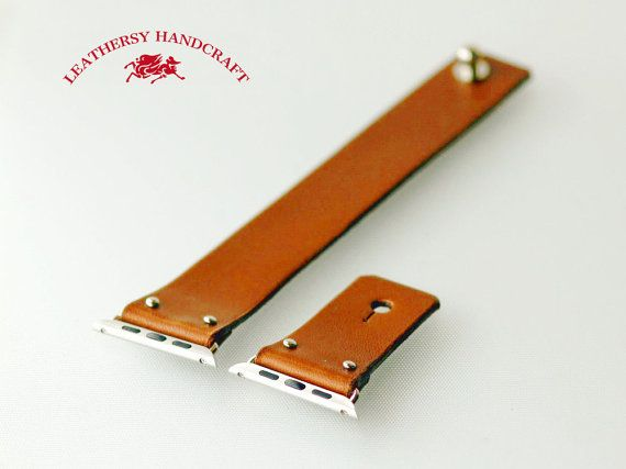 Apple watch Strap Brown color Vegetable tanned by Leathersy