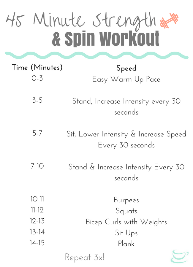 45 Minute Strength and Spinning Workout