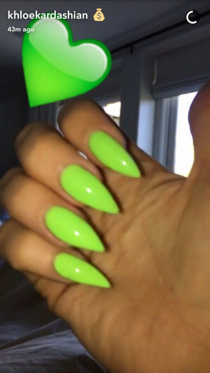 Green stiletto nails | 5. Double Team + Dynamicpunch Gorgeous Green ...