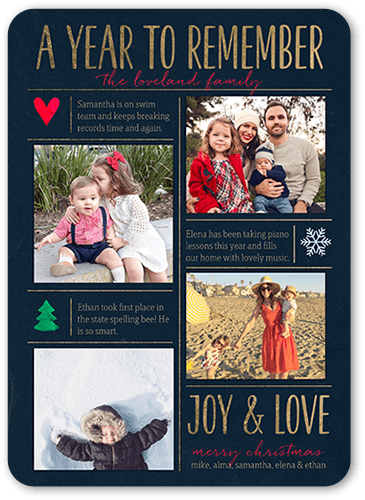 A Year To Remember 5x7 Stationery Card By Petite Lemon Send A Christmas Card Friends And Family Wi Christmas Card Friend Christmas Photo Cards Christmas Cards