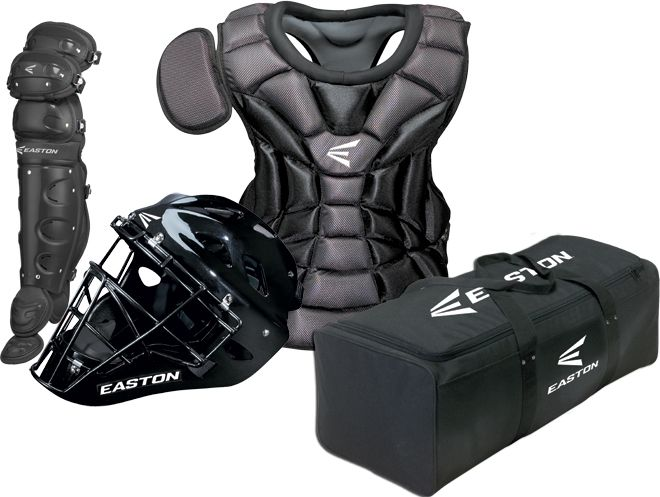Easton Intermediate Natural Baseball Catchers Gear Set With