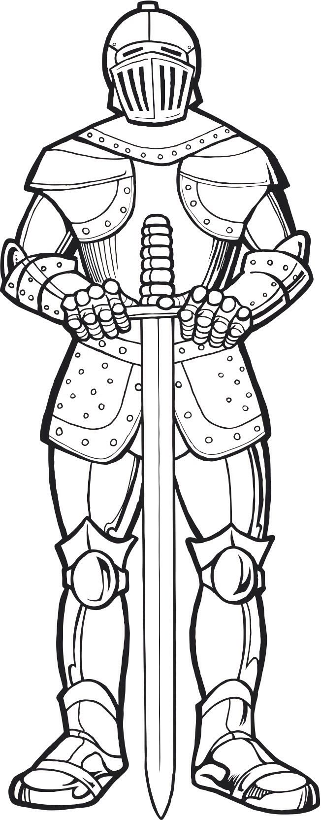 Knight | Knights of Liberty | Pinterest | Knight, Coloring books and ...