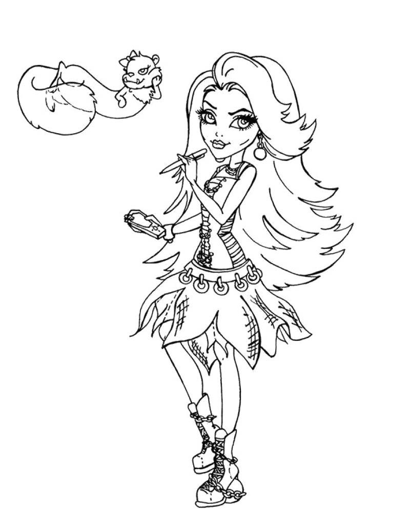 Spectra Vondergeist Monster High And Pet Coloring Page Coloring