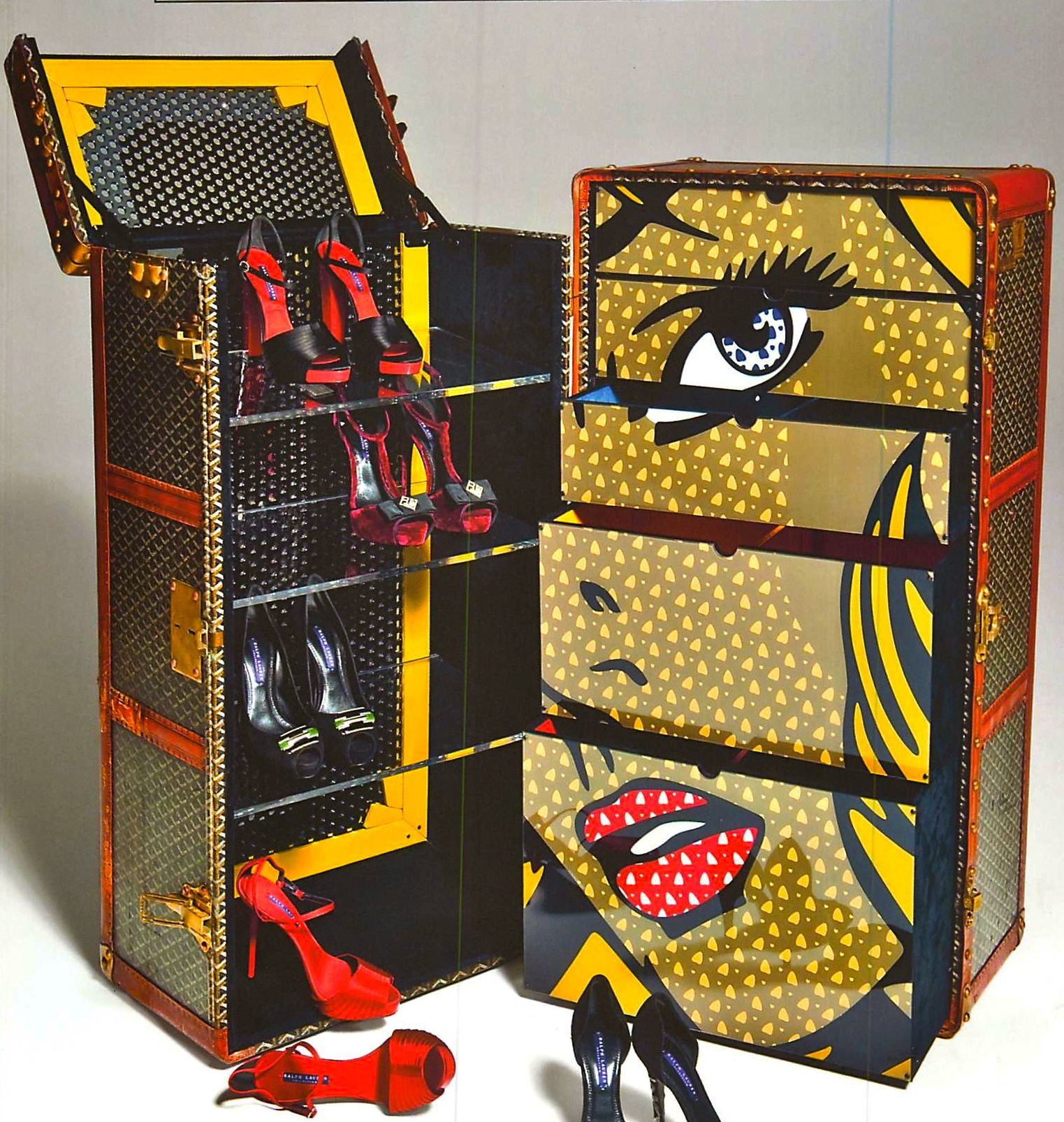 Vintage goyard trunk pop art gifts for her pinterest - Muebles pop art ...